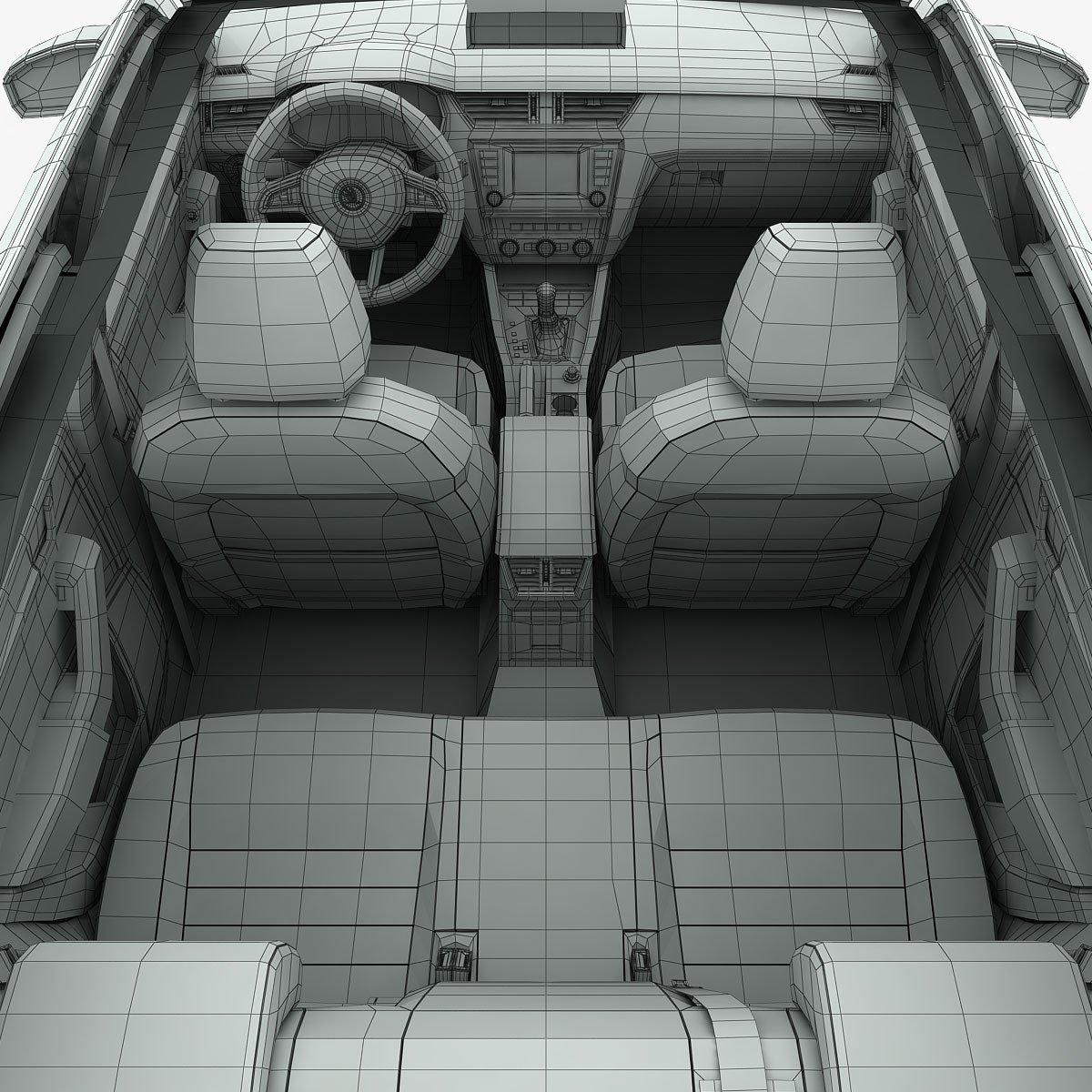 Skoda Octavia Combi 2014 detailed interior 3D Model in Wagon 3DExport