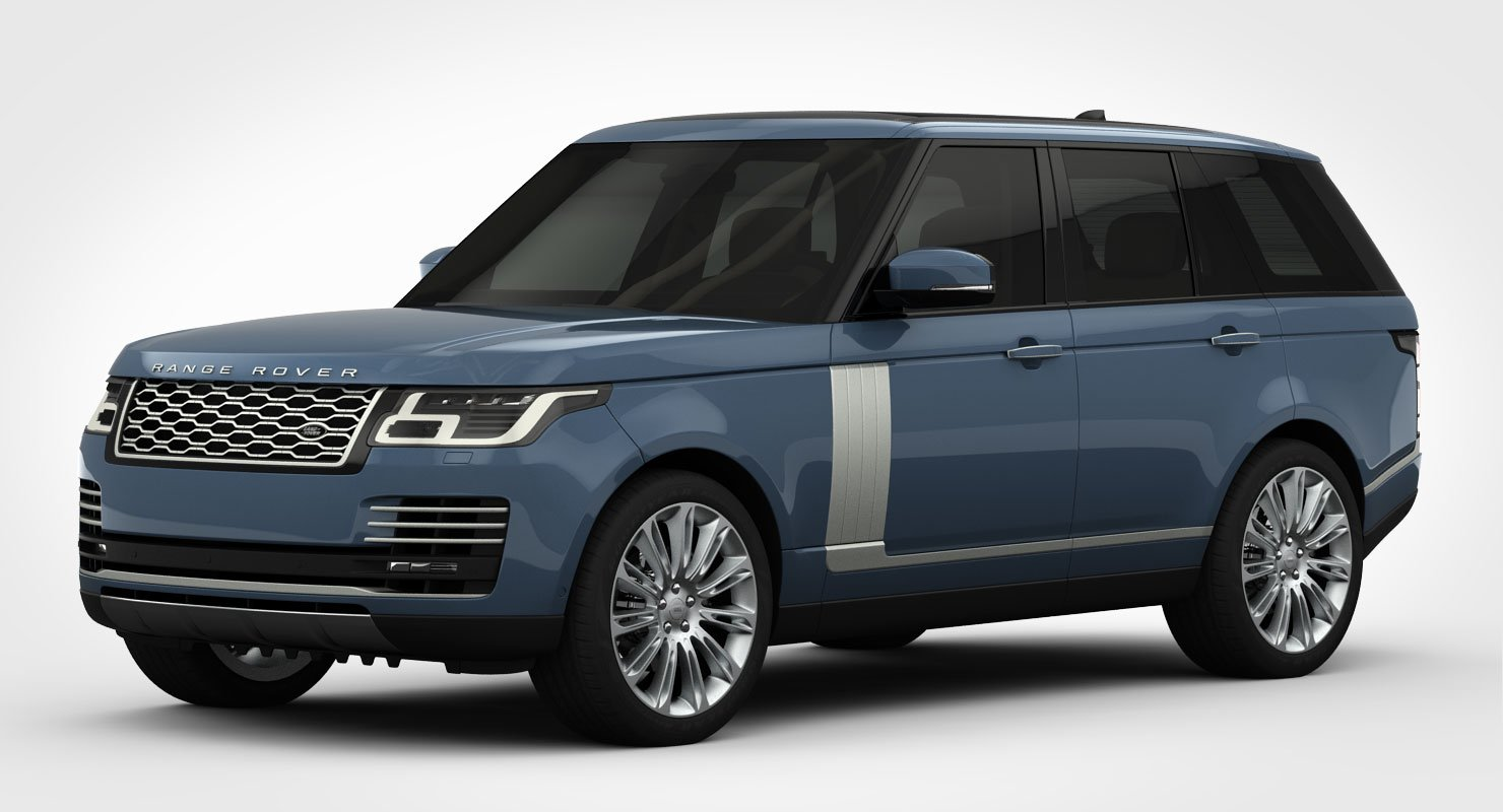 range rover autobiography 2018 detailed interior 3d model in suv
