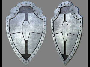 Metal shield for games and animation