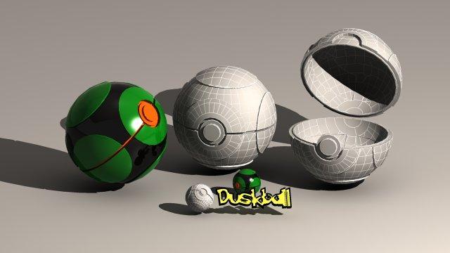 Pokeball Dusk Ball 3D Model
