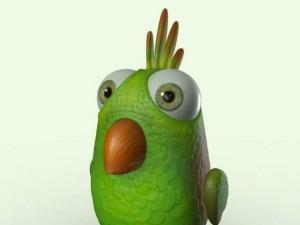 Cartoon Bird Character
