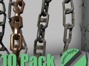 10 Pack Chains Game Ready