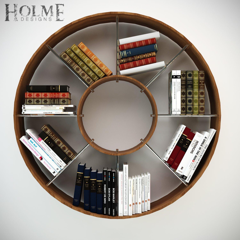 Design Circle Bookshelf circular bookshelf 3d model in shelving 3dexport model