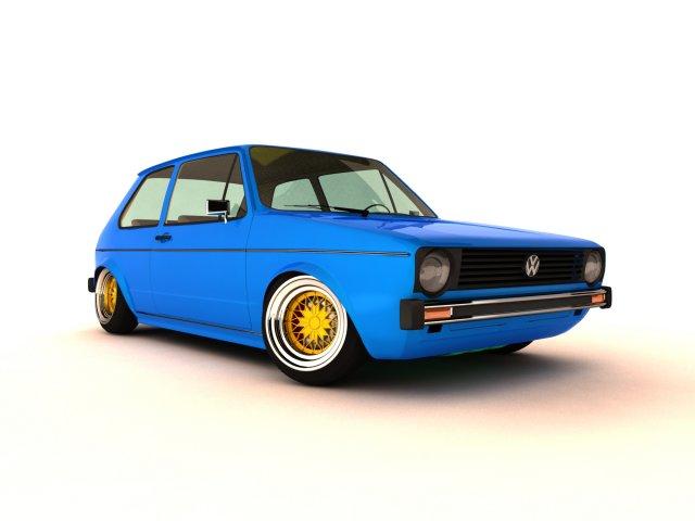 Volkswagen Golf Mk1 1974 3D Model