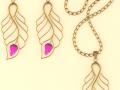 Set of Necklace  Earrings 4 3D Model