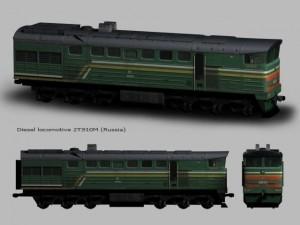 Diesel locomotive 2TE10M Russia