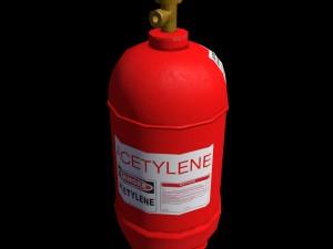 Low-poly gas acetylene ballon