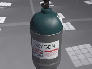 Low-poly gas oxygen ballon