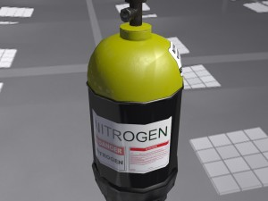 Low-poly gas nitrogen ballon