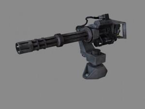 Low poly Minigun M134