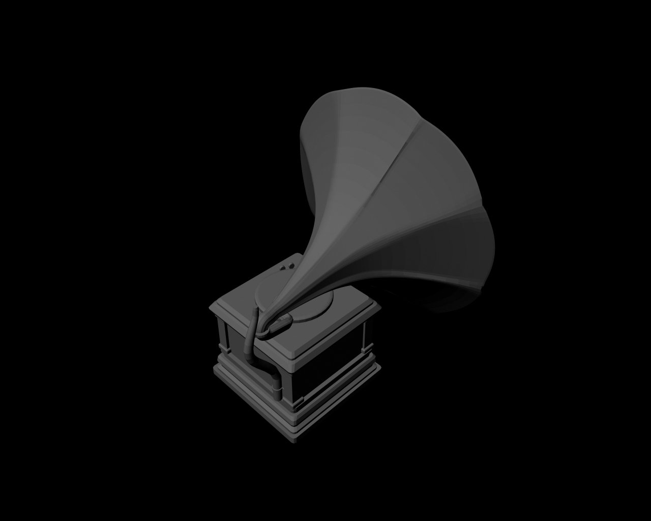 Old Music Player 3D Model in Other 3DExport