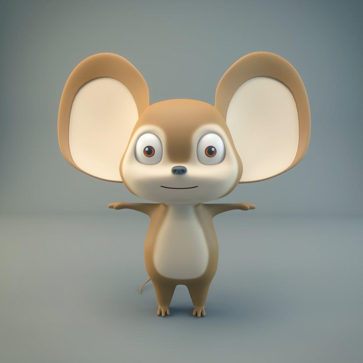 Cartoon Mouse 3d Model In Other 3dexport