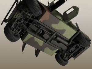 HMMMWV Military Humvee Camouflaged
