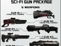 SciFi Gun Package