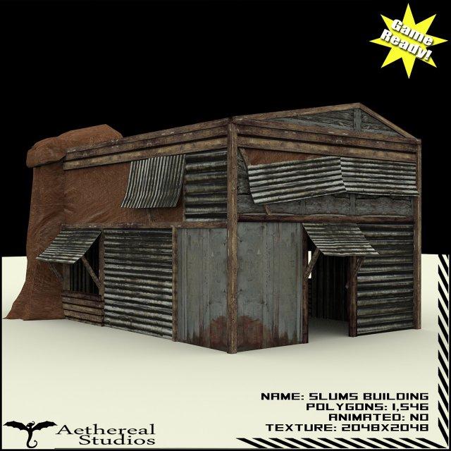 Slums Building 1 3D Model