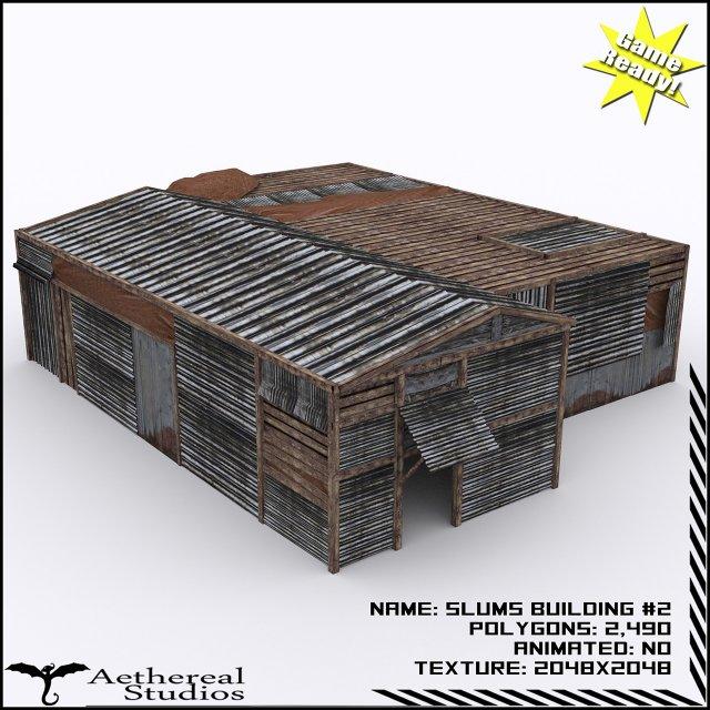 Slums Building 2 3D Model