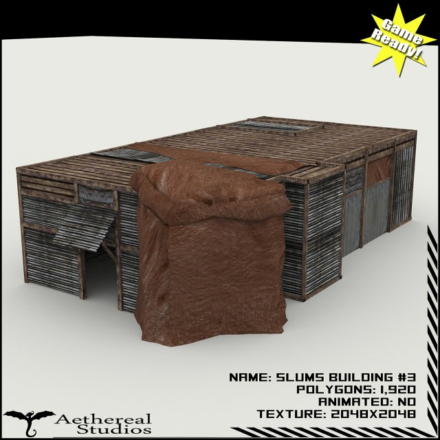 Slums Building 3 3D Model