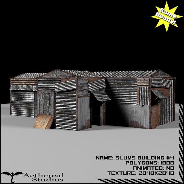 Slums Building 4 3D Model