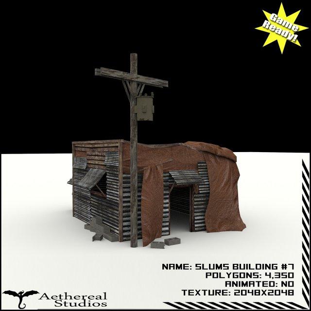 Slums Building 7 3D Model