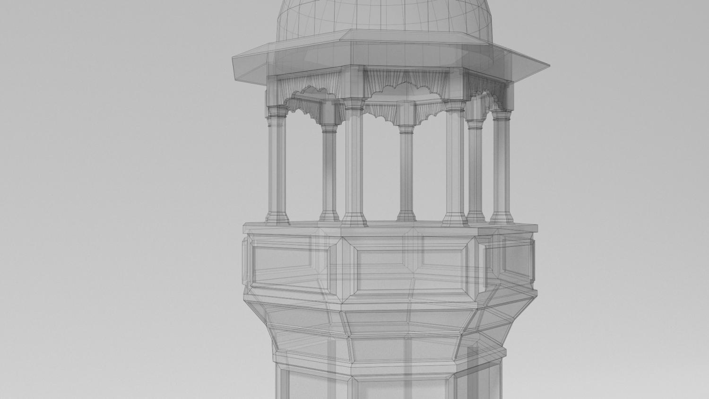 Minaret 3D Model in Buildings 3DExport