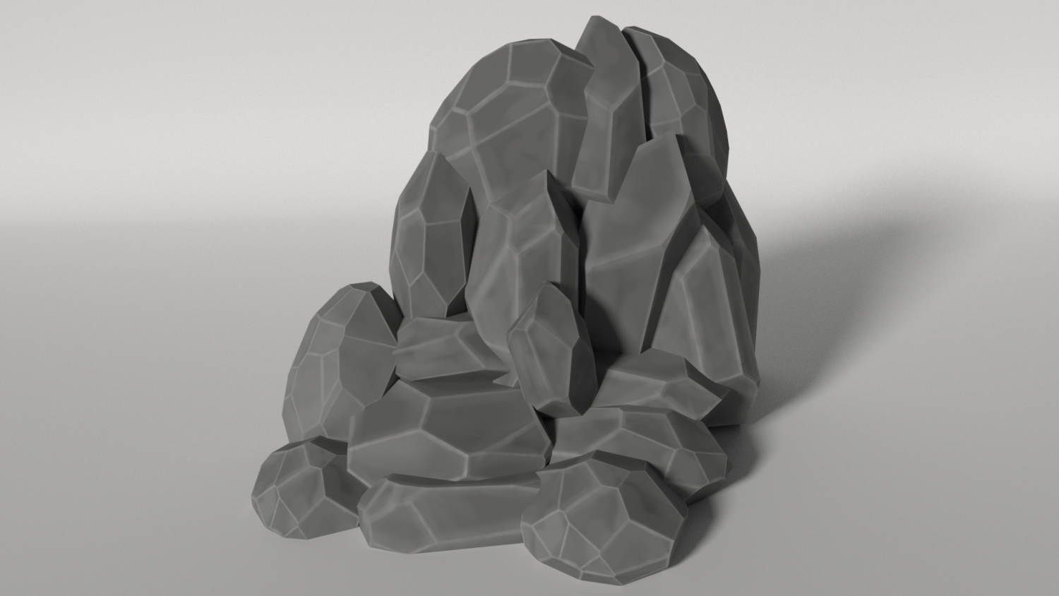 Low Poly Rocks 3d Model In Environment 3dexport