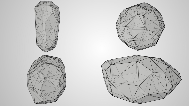 Low Poly Rocks 3D Model in Environment 3DExport
