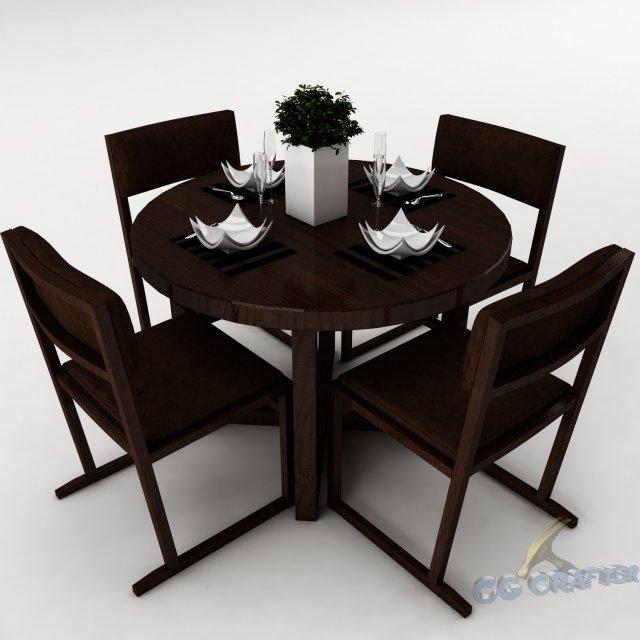 Dining table set 33 3D Model