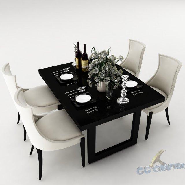 Dining table set 35 3D Model