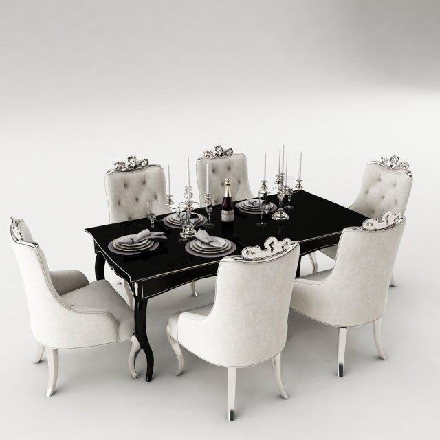 Dining table set 37 3D Model