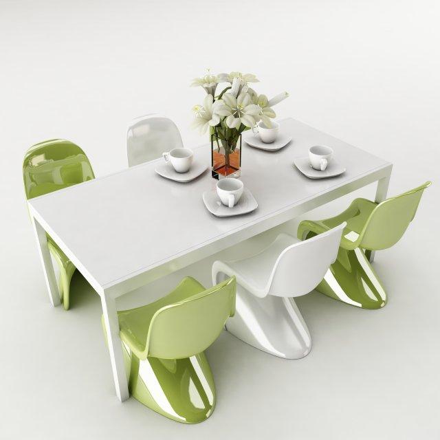 Dining table set 47 3D Model