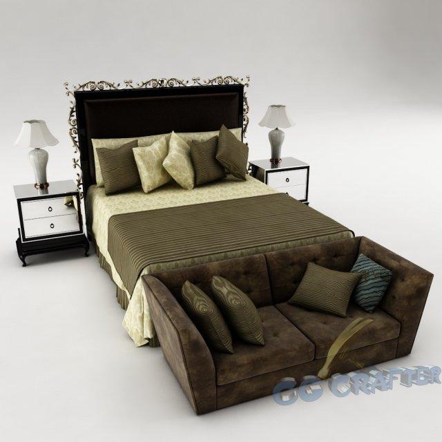 Bedroom set 015 3D Model