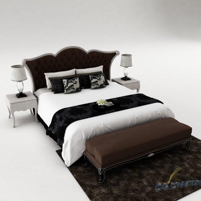 Bedroom set 026 3D Model