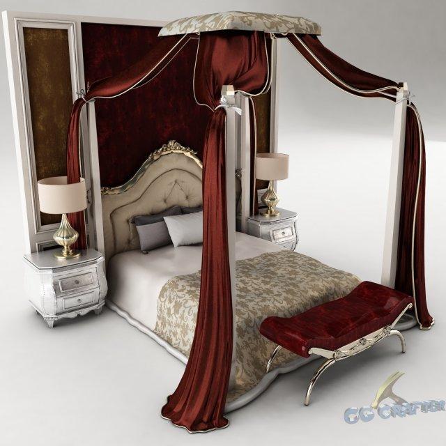 Bedroom set 029 3D Model