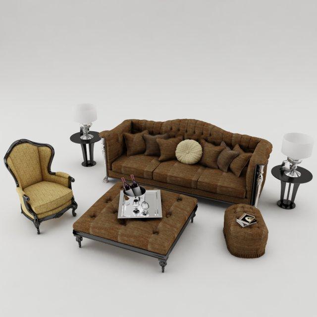 Sofa set 002 3D Model