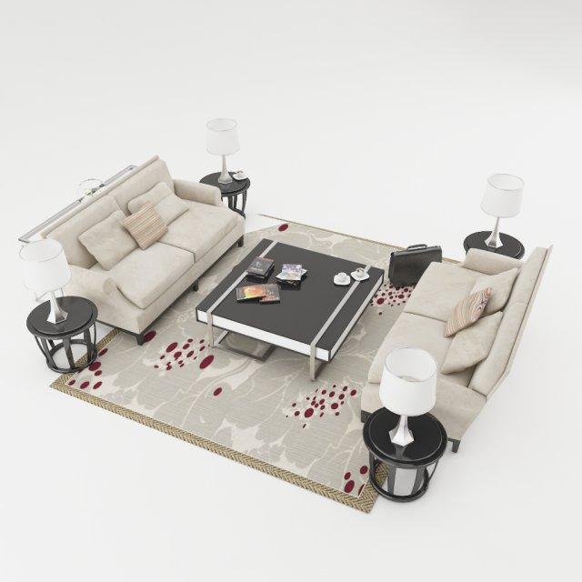 Sofa set 003 3D Model