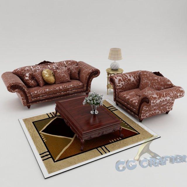 Sofa set 004 3D Model