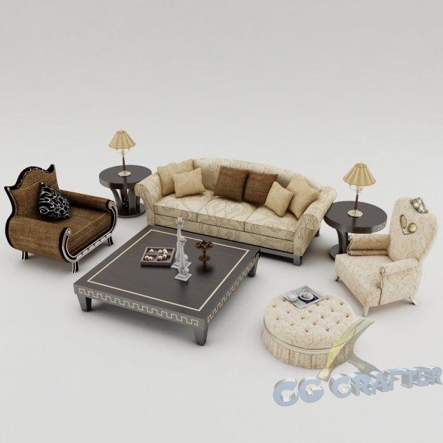 Sofa set 005 3D Model