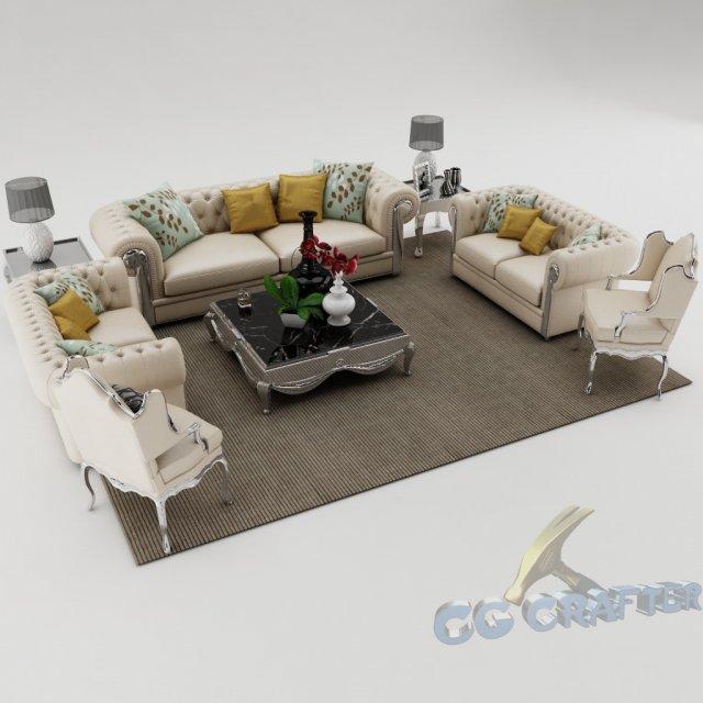 Sofa set 006 3D Model