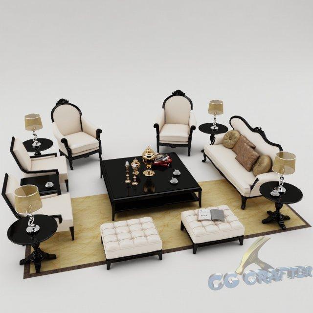 Sofa set 009 3D Model