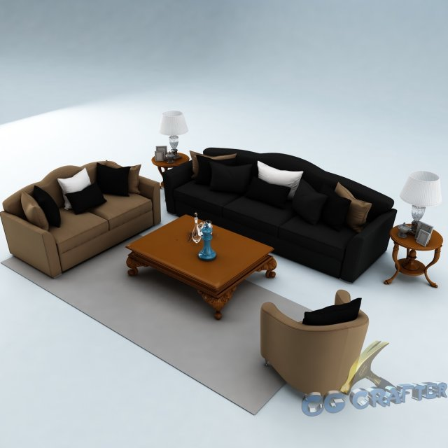 Sofa set 011 3D Model
