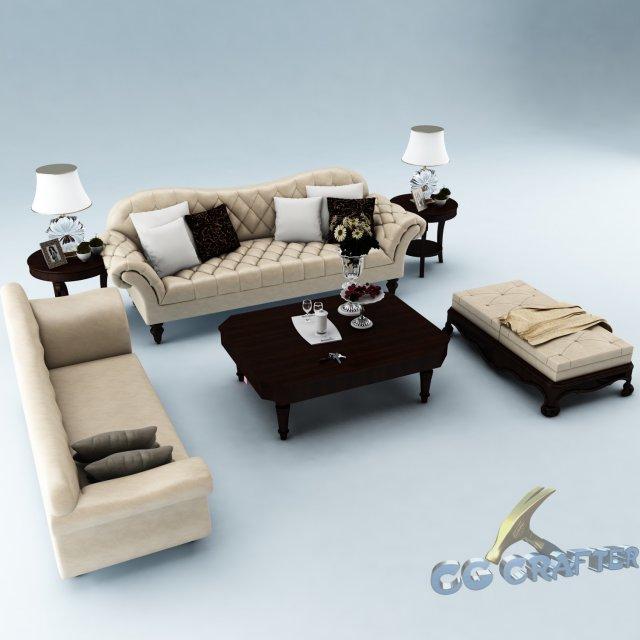 Sofa set 012 3D Model