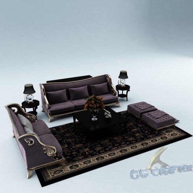 Sofa set 014 3D Model