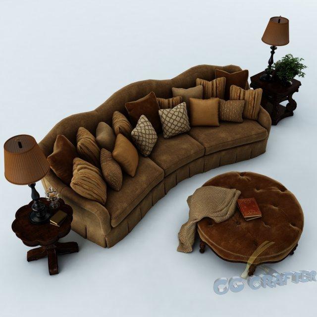 Sofa set 024 3D Model