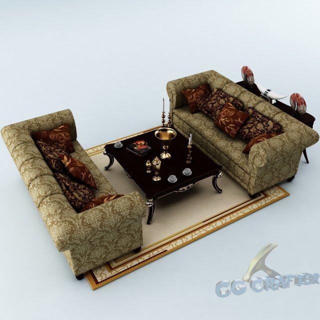 Sofa set 031 3D Model