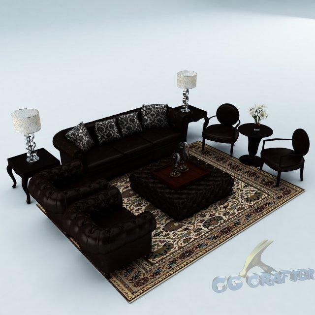 Sofa set 033 3D Model