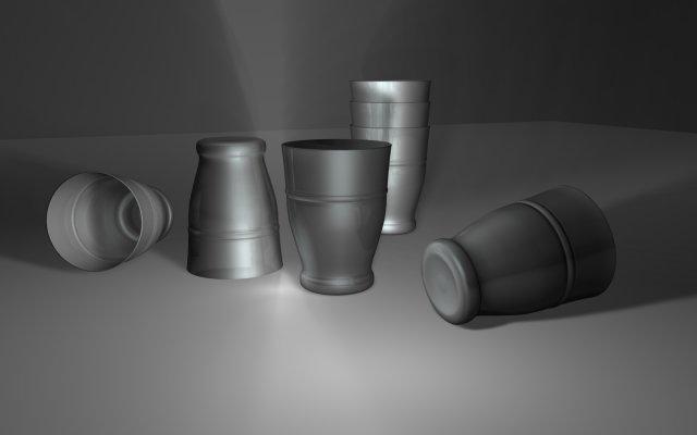 Steel Glass 01 3D Model