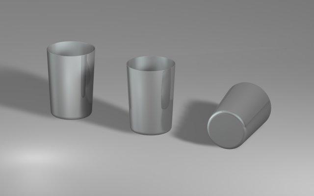 Steel Glass 03 3D Model