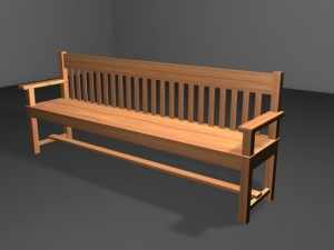 Wooden Bench 02