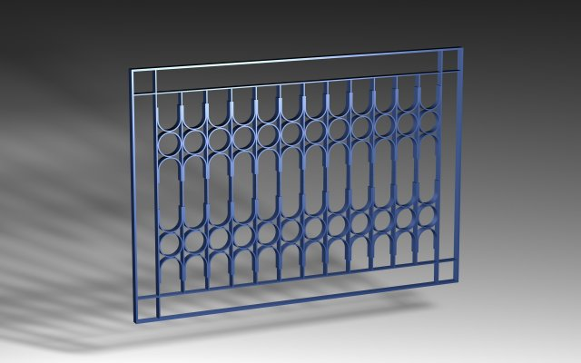 Window Grill Iron Design 02 Pack 3D Model