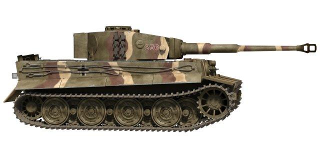 Tiger 1 Tank 3D Model